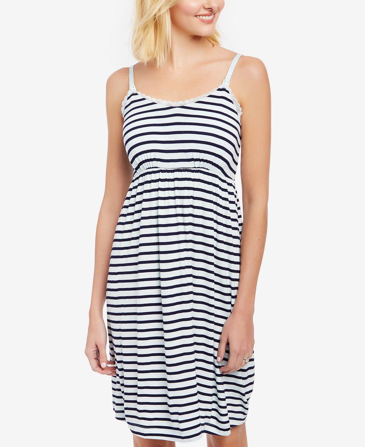 4f8650279fb71 Motherhood Maternity Babydoll Clip-Down Nursing Nightgown - Maternity -  Women - Macy's