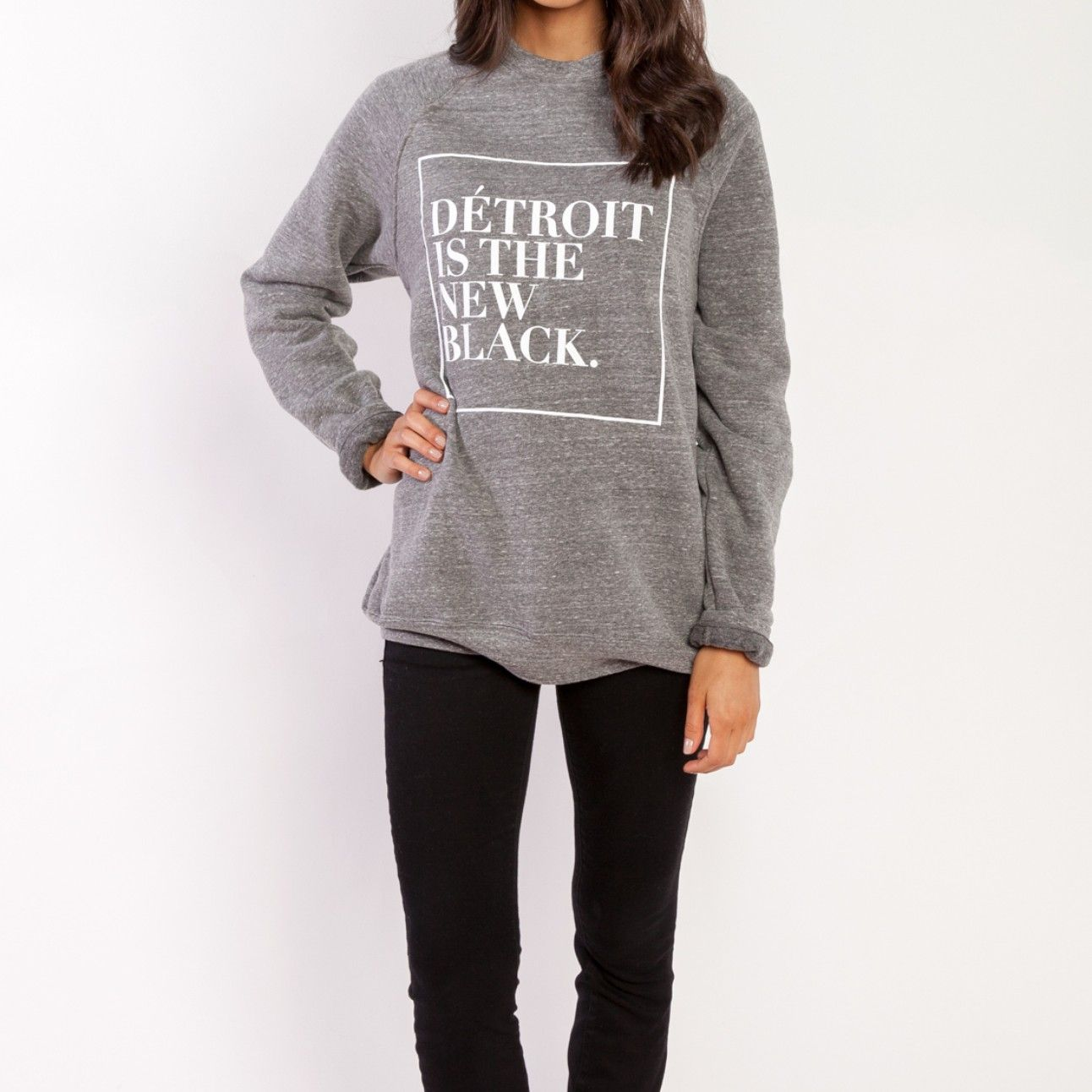 Woodward sweatshirt grey from détroit is the new black dress up