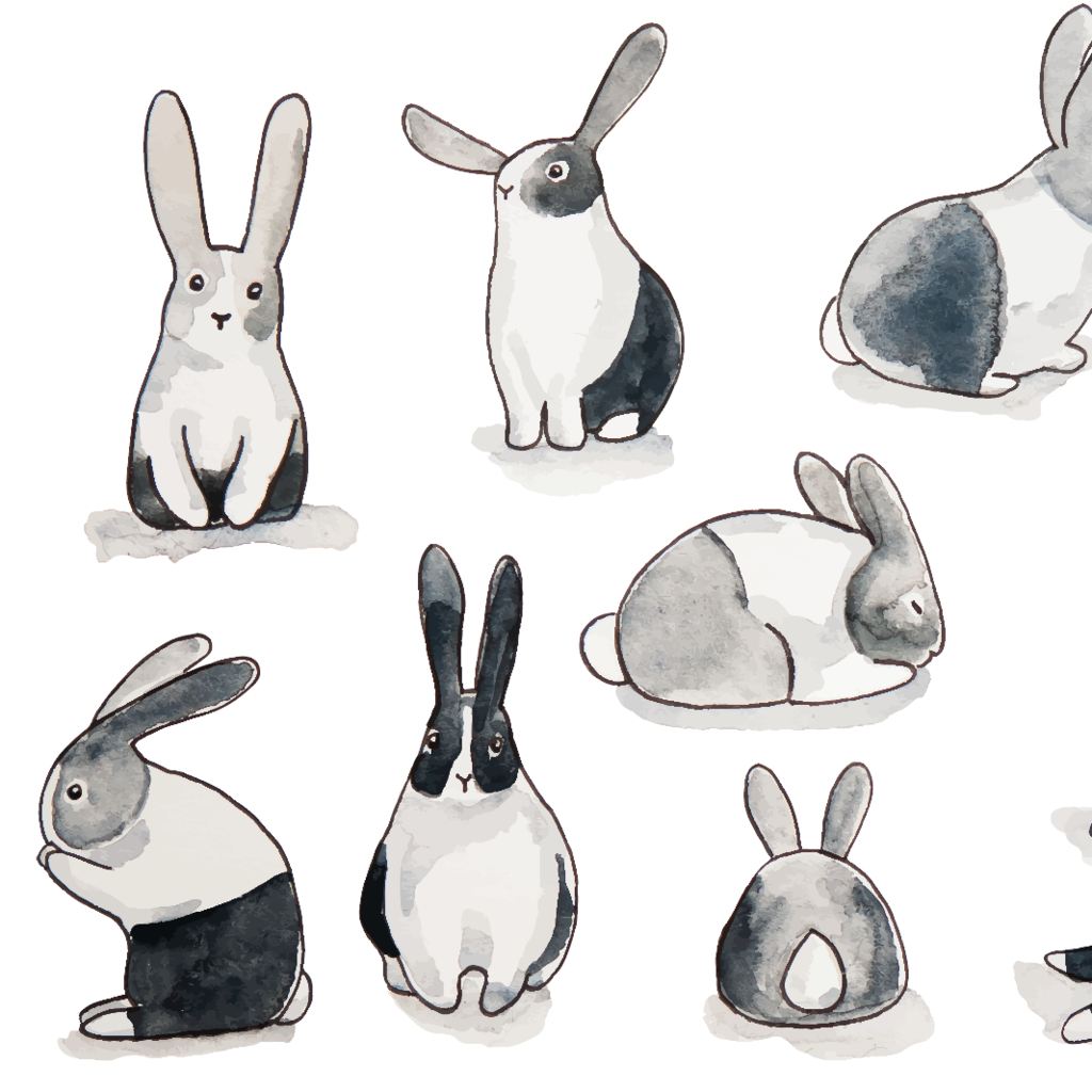 Bunny Rabbit Wallpaper (Self-Adhesive)   Rabbit wallpaper, Bunny ...