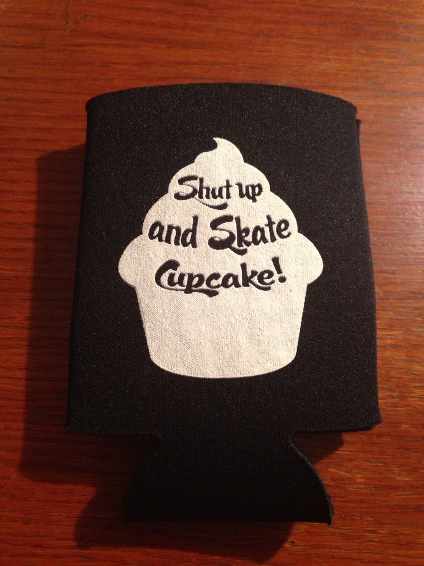 Shut Up and Skate Cupcake Coozie by Rrrshop on Etsy, $5.00 Roller Derby