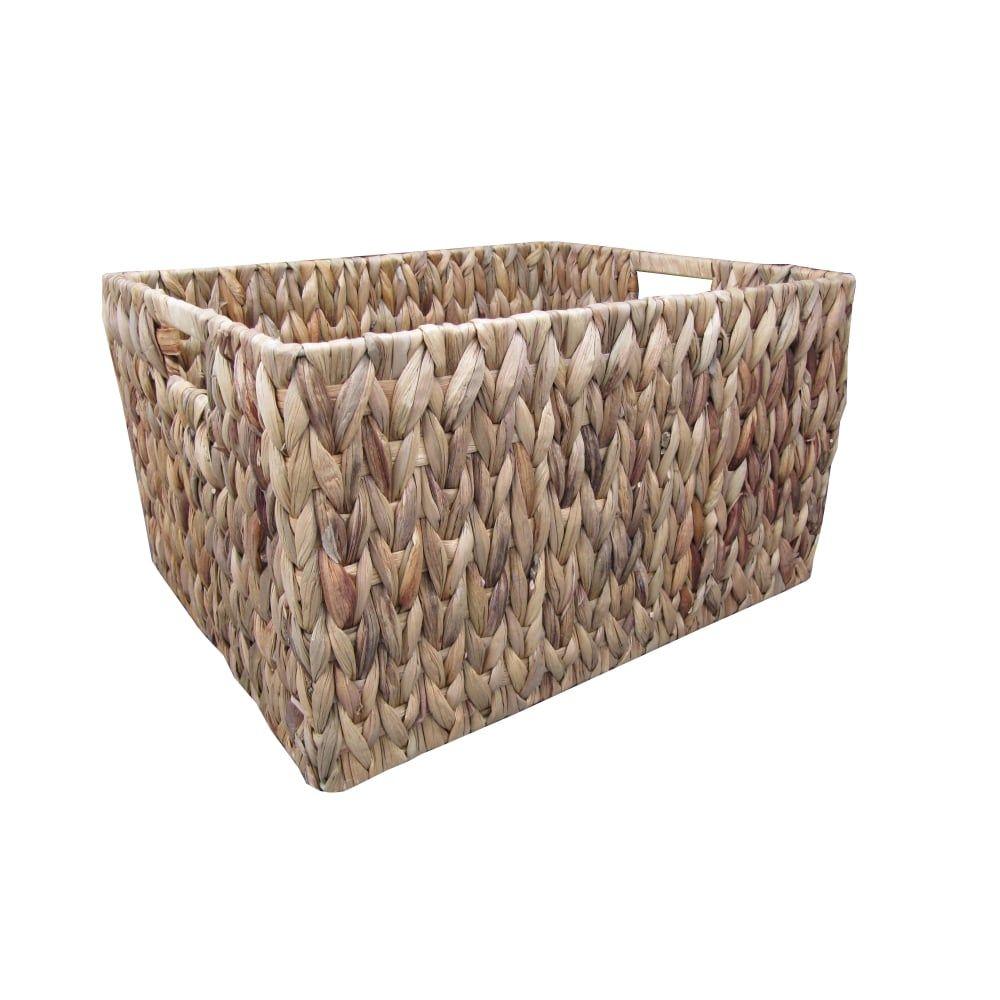 Awesome Water Hyacinth Rectangular Storage Baskets Large U003d L 41cm X W 31cm X H 22cm.