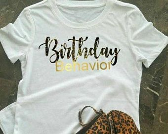 Birthday T Shirt For Women Girl 21st Black And Gold