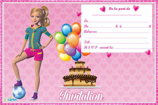 Extrêmement Invitation anniversaire Stacie fan de sports | Mickey mouse  IN68