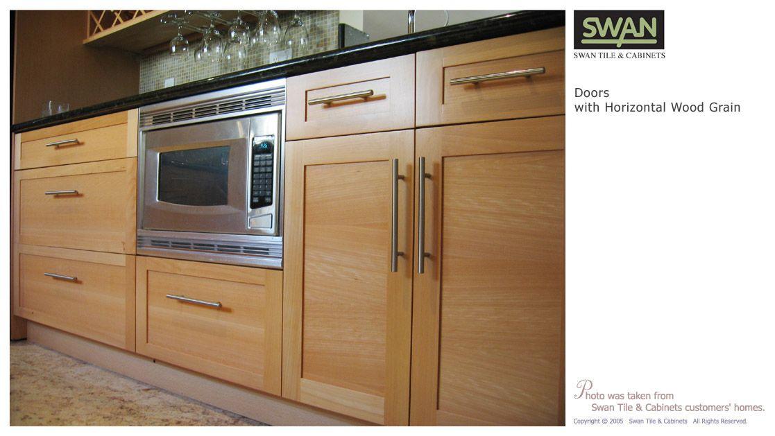 Horizontal Wood Grain Kitchen Cabinets | Different Direction Horizontal  Grain Doors