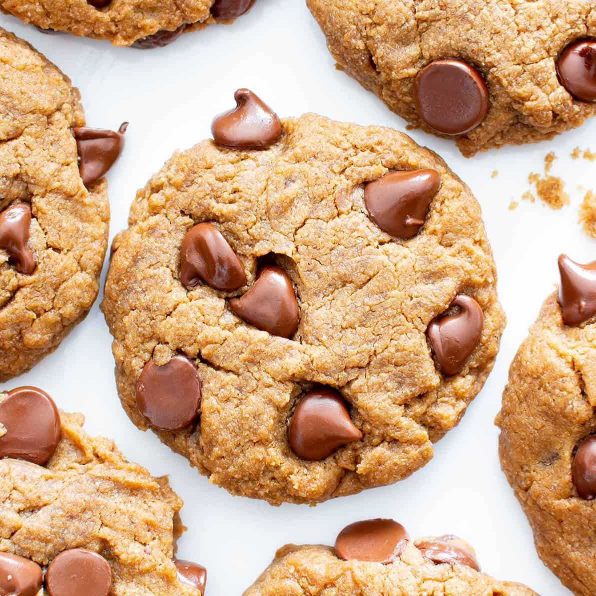 Gluten Free Peanut Butter Chocolate Chip Cookies V Gf An Easy