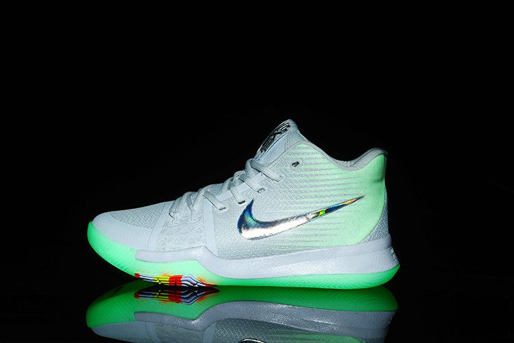 brand new 7a728 ed30a New Nike Kyrie 3 TS Pure Platinum Multicolor-Volt 852416-001 ...