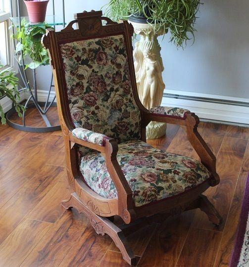 Eastlake Rocker Stuffed With Horse Hair Chair Platform Rocker