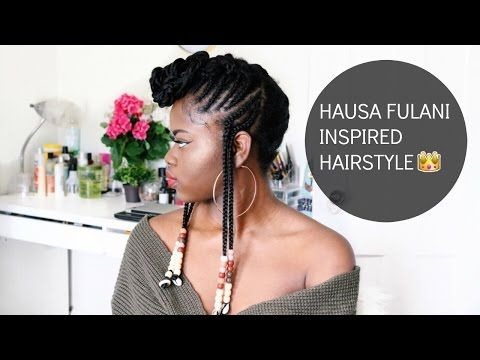 Hair Tutorial Hausa Fulani Inspired Hairstyle With Beads Youtube Quick Hair Braid Braids For Short Hair African Braids Hairstyles