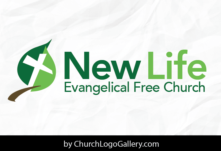 a church logo we designed for new life evangelical free church