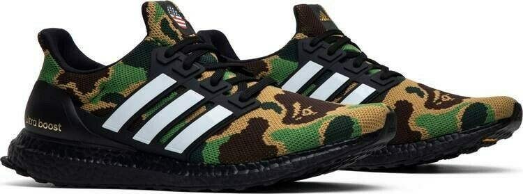 official store best price first rate AUTHENTIC BAPE x UltraBoost 4.0 'Green Camo' #fashion ...