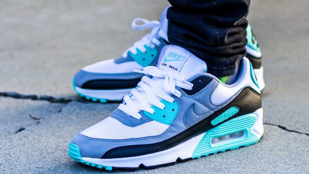 Nike AIR MAX 90 OG HYPER TURQUOISE On Feet Sneaker Review ...