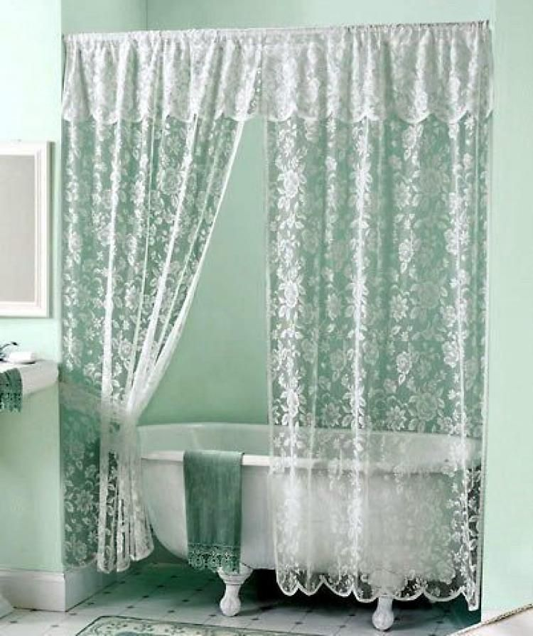 Best Victorian Shower Curtains Shabby Chic Shower Curtain Lace