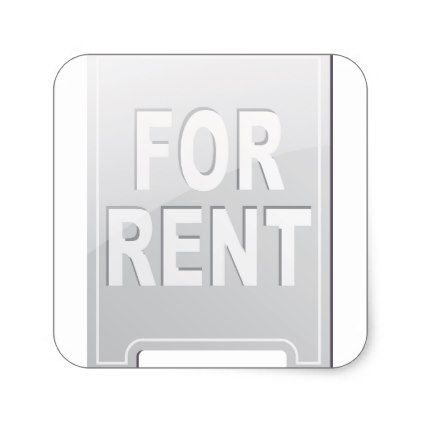For rent sign stickers diy cyo customize create your own personalize