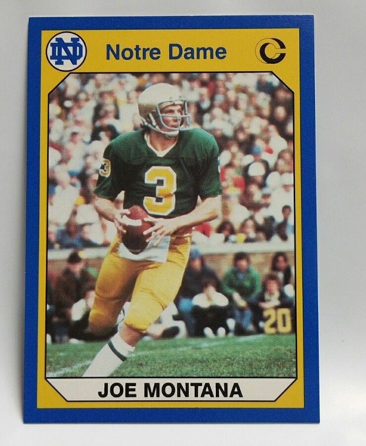 6440ba516 Joe Montana 1990 Notre Dame Football Trading Card Fighting Irish  quarterback #NotreDameFightingIrish