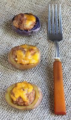 #Meatloaf stuffed potatoes