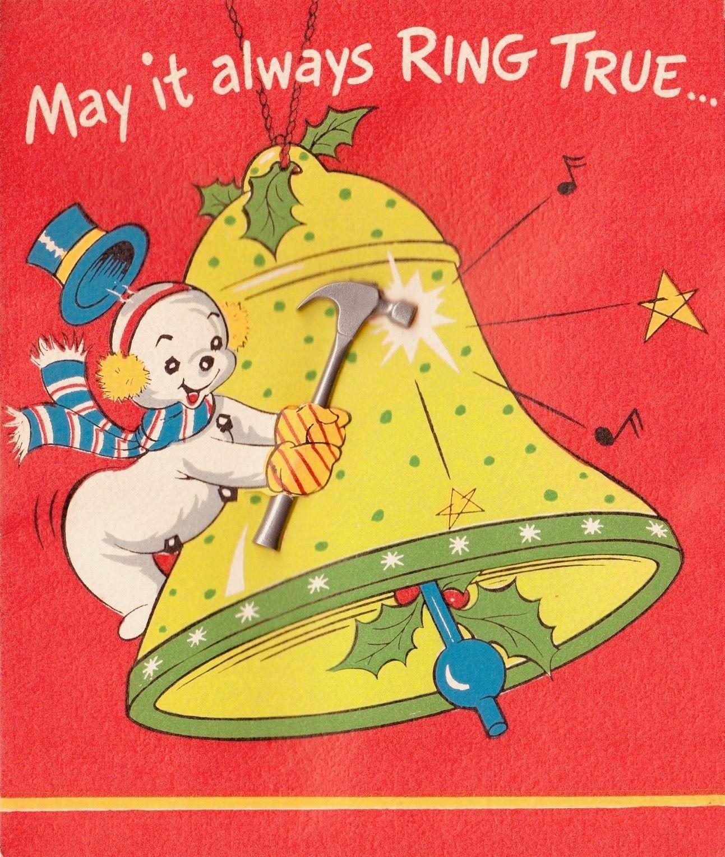 retrochristmas, #christmassnowman, Vintage Christmas Card, Retro ...