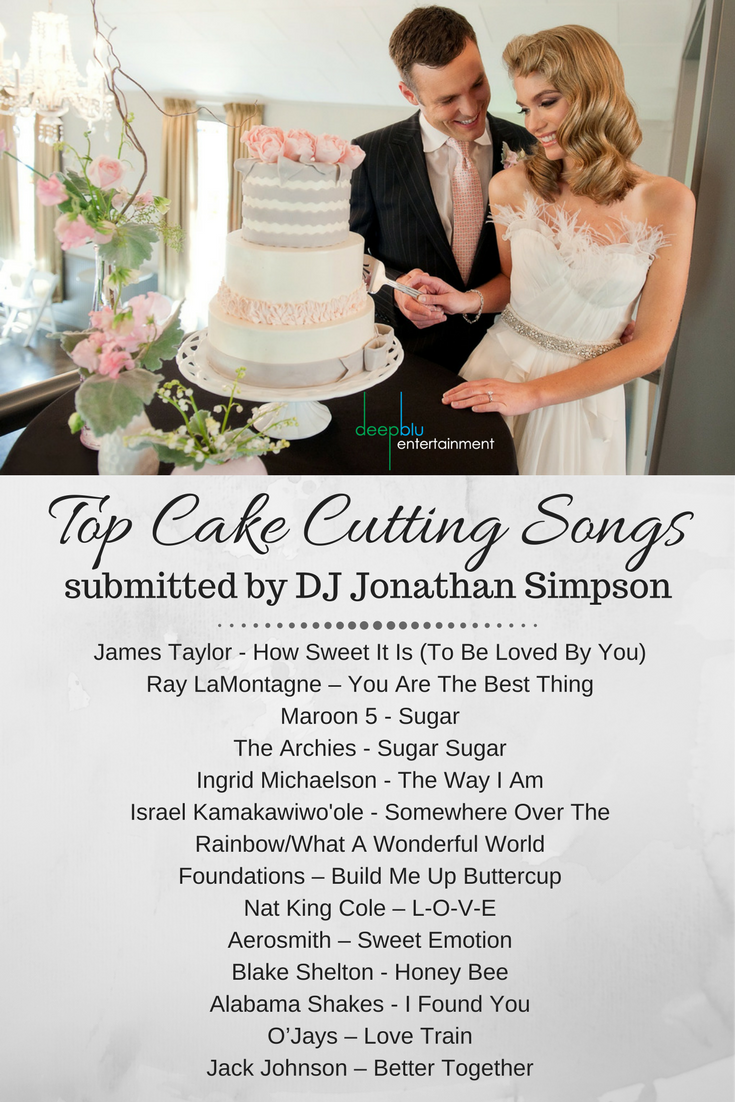 DJ Jonathan Simpsons Top Cake Cutting Songs