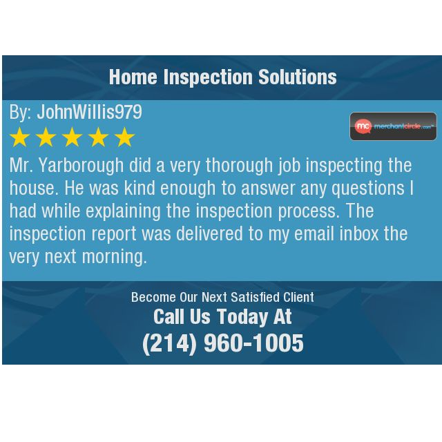 Mr Yarborough Did A Very Thorough Job Inspecting The House He Was Kind Enough To Answer This Or That Questions Home Inspection Tlc