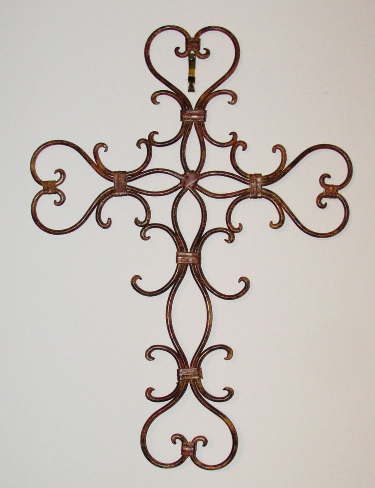 Metal Wrought Iron Cross Wall Decor Crosses Cross Wall Decor