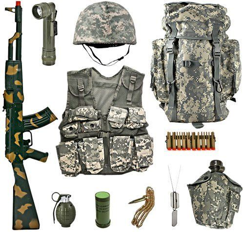 4b92942f686fd Kids Platoon Leaders Full Role Play Set - ACU Digital Camouflage by Kids- Army,