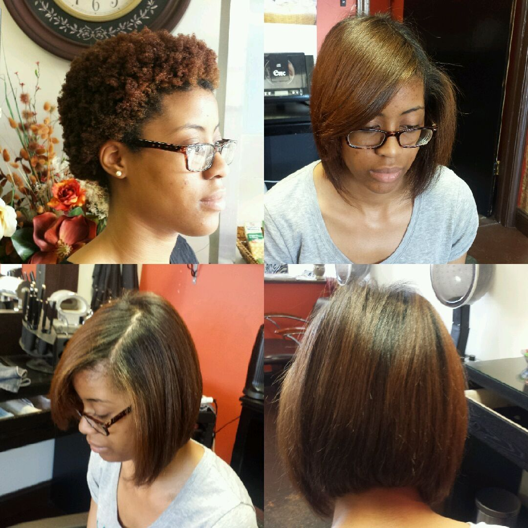 Texture Release by Avlon. Silk press natural hair