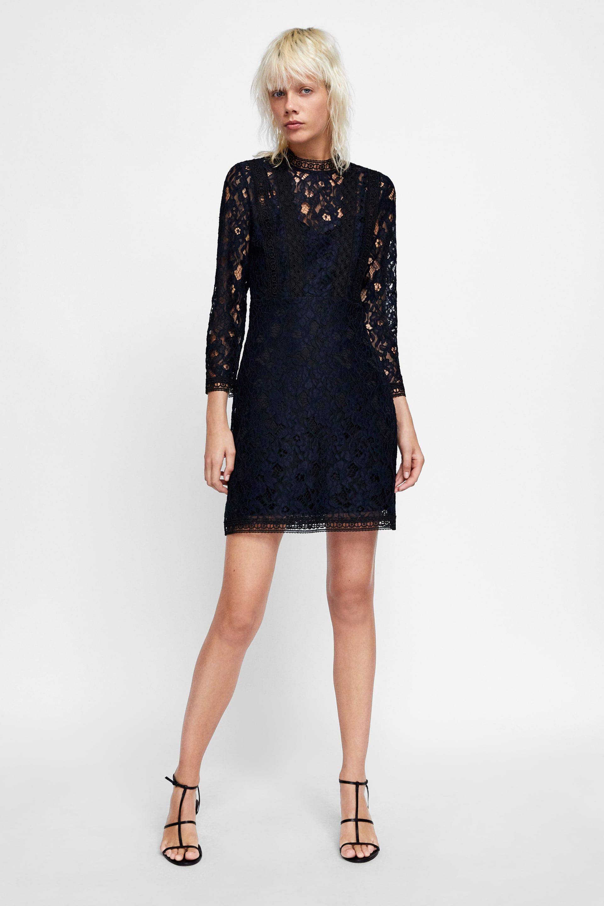 Pin By Angie Kloppmann On Style Inspiration Lace Dress High Collar Dress Dresses [ 2880 x 1920 Pixel ]