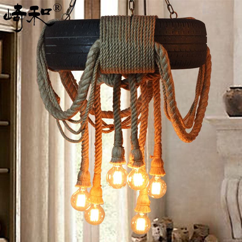 American country style chandelier loft nordic retro bedroom garden american country style chandelier loft nordic retro bedroom garden clothing store coffee hall rope chandelier aloadofball Image collections