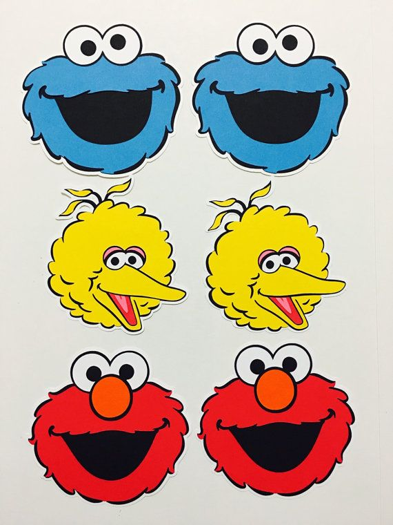 3-8 Elmo, Cookie Monster and Big Bird Cut-Outs Great for centerpieces, goodie bags, birthday banners etc. A white back layer can be added to make the cut-outs more sturdy. Please let me know if you would like an extra layer. If you select Mix of all 3 you will get an equal amount
