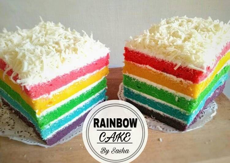 Resep Rainbow Cake Kukus Ny Liem Oleh Sasha Resep Kue Pelangi Makanan Manis Kue Lezat