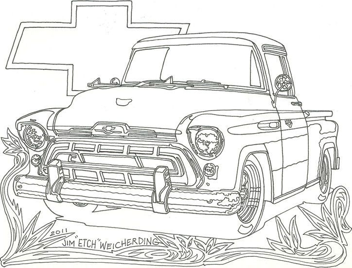 Chevy Truck Car Coloring Pages Truck Coloring Pages Chevrolet Trucks Cars Coloring Pages