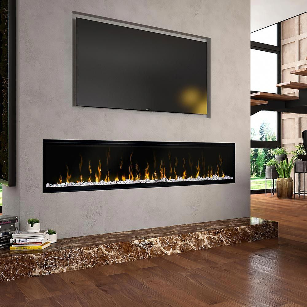 Touchstone 72 In Sideline Built In Electric Fireplace 80015