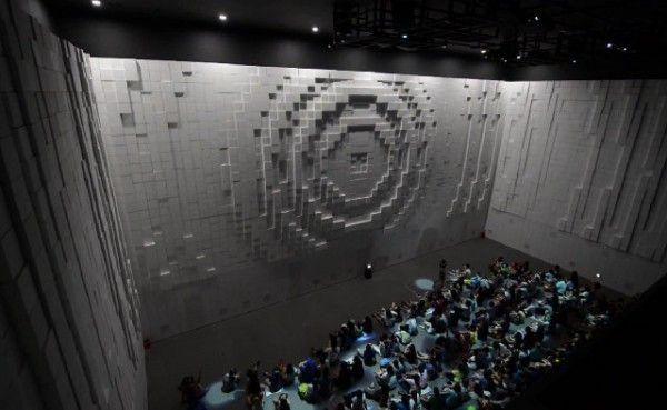 Thousands Of Individually Controlled Boxes Make Up Hyper-Matrix Moving Wall…