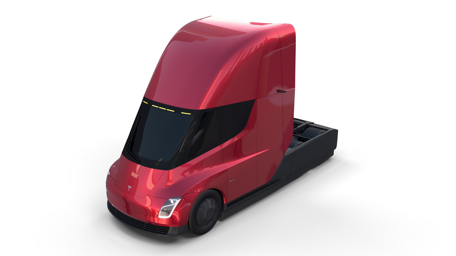 Tesla Semi Truck Red Tesla Semi Truck Semi Trucks Tesla