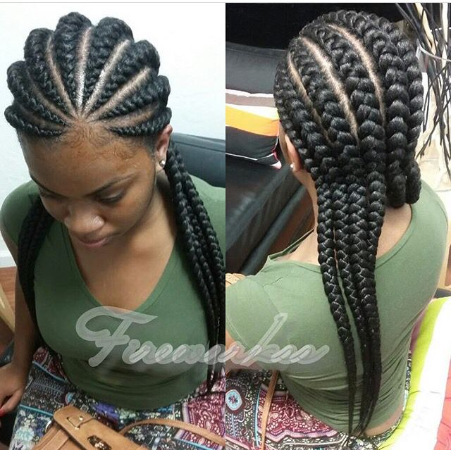Jumbo Cornrows With Images Cornrow Hairstyles Hair Styles