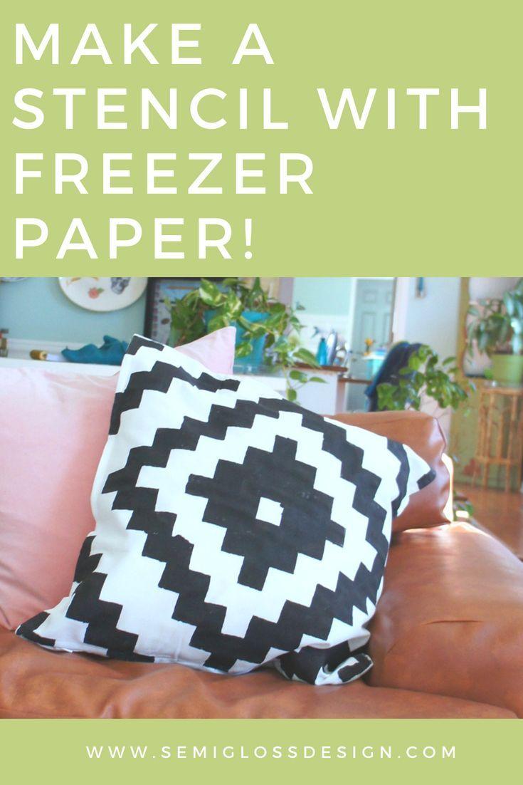How to freezer paper stencil a pillow cover home diy ideas