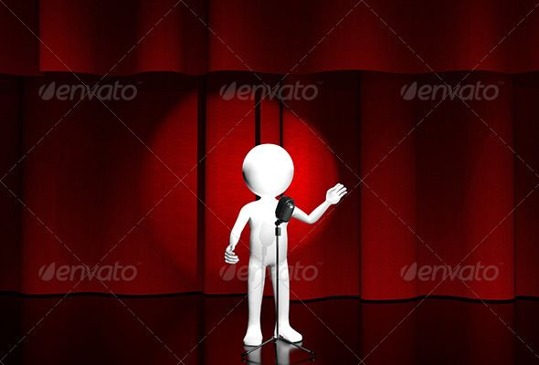 onstage by brux onstage 3d illustration of a man with a microphone on stage JPEG 57403722 created in 3ds max