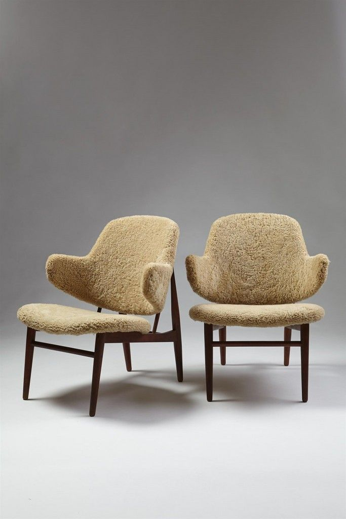 Pair of armchairs designed by Ib Kofoed Larsen, Denmark. 1950's. — Modernity