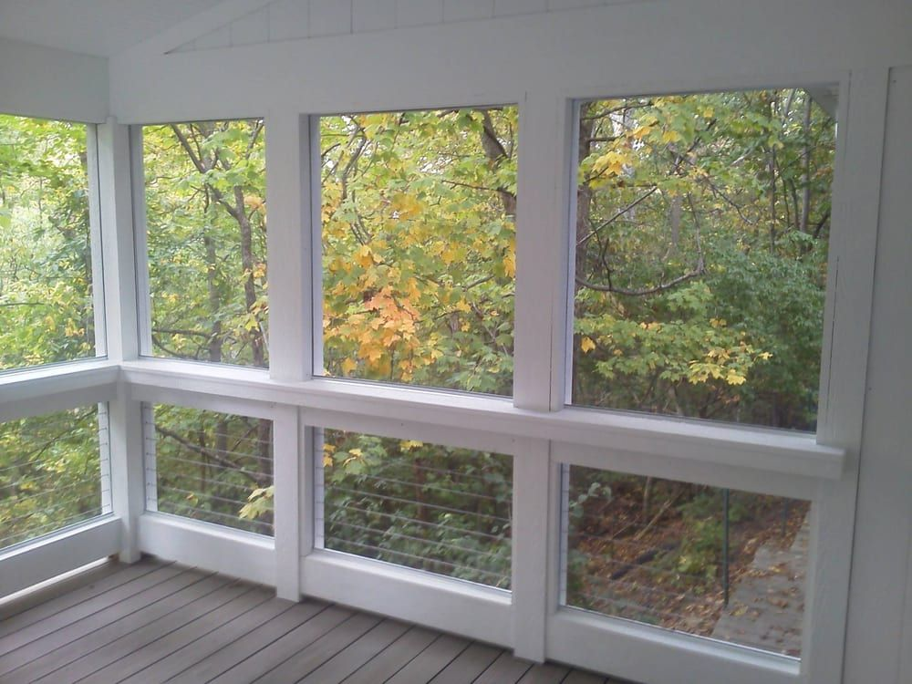 Safe Screened Porch : Image result for screen porches with cable rail grote