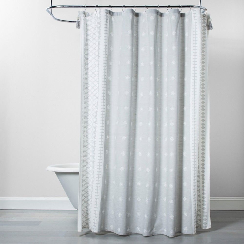 Printed Shower Curtain Gray Opalhouse Gray Shower Curtains