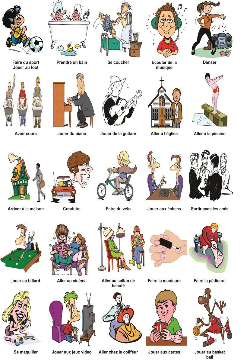Préférence FrMoliere: Activités Quotidiennes | Flashcard | Pinterest  EW64