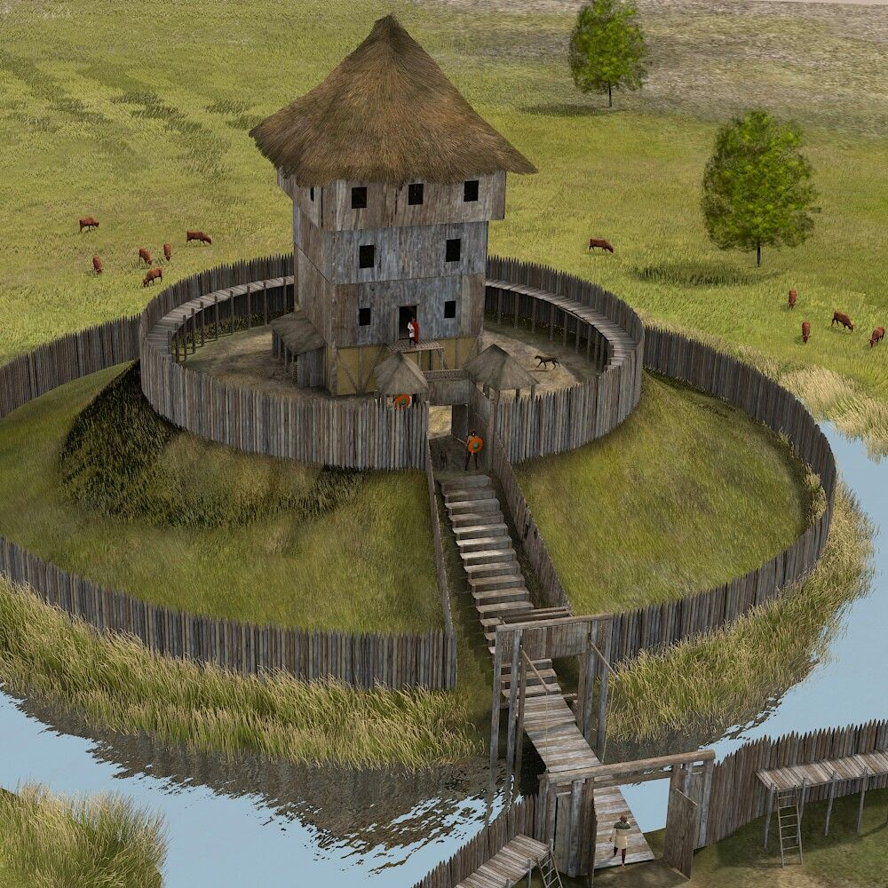 Pin By Gabriel Agius On Castles Forts Motte And Bailey Castle Middle Ages Fantasy Castle