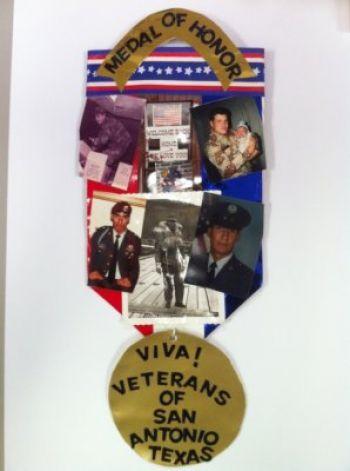 "2012 Original Fiesta Medal - ""Medal of Honor"" by Yolanda Rodriguez (René A. Guzman/San Antonio Express-News) / SA"