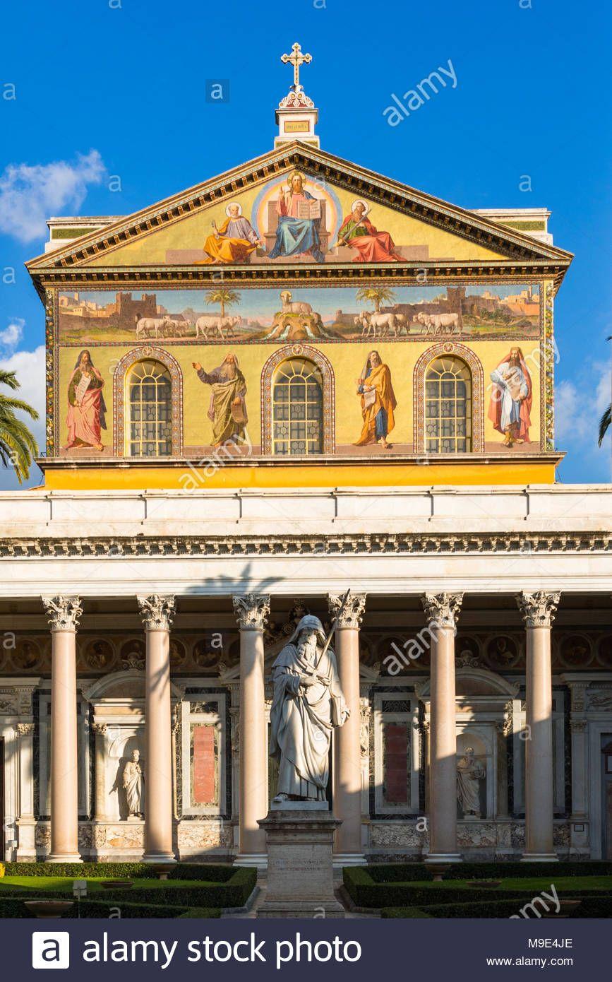 Download This Stock Image Basilica Of Saint Paul Or Basilica Di San Paolo Fuori Le Mura Just South Of The Old City Walls Rome Lazio Basilica Old City Rome