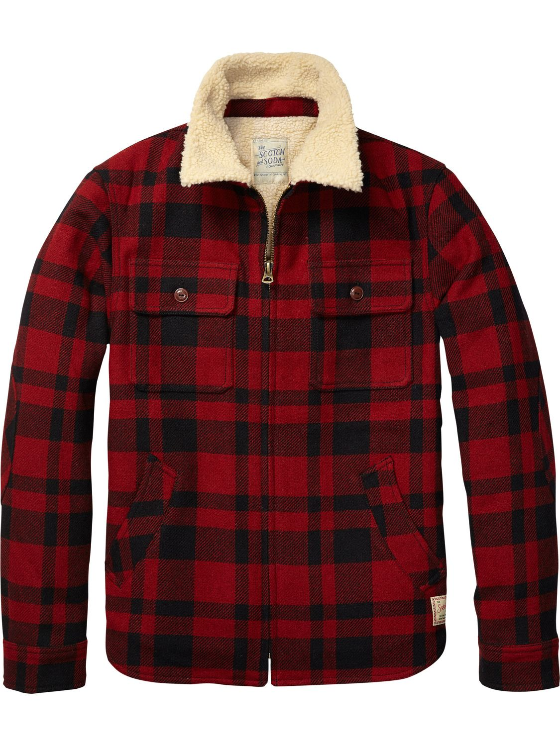 be0eb3a3a57ab Lumberjacket With Teddy Lining   Mens Clothing   Jackets at Scotch   Soda
