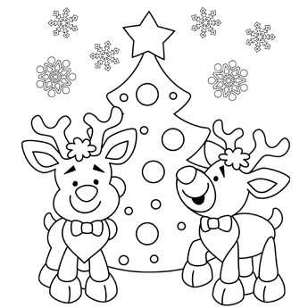 Christmas Coloring Pages Reindeer Photos