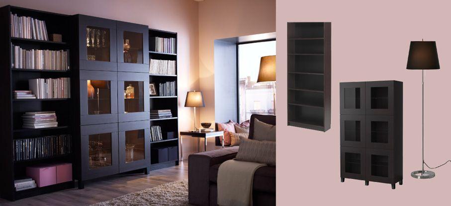 Libreria Billy Ikea Ante.Besta Mobile Con Ante In Vetro Temprato E Billy Librerie Tutto In