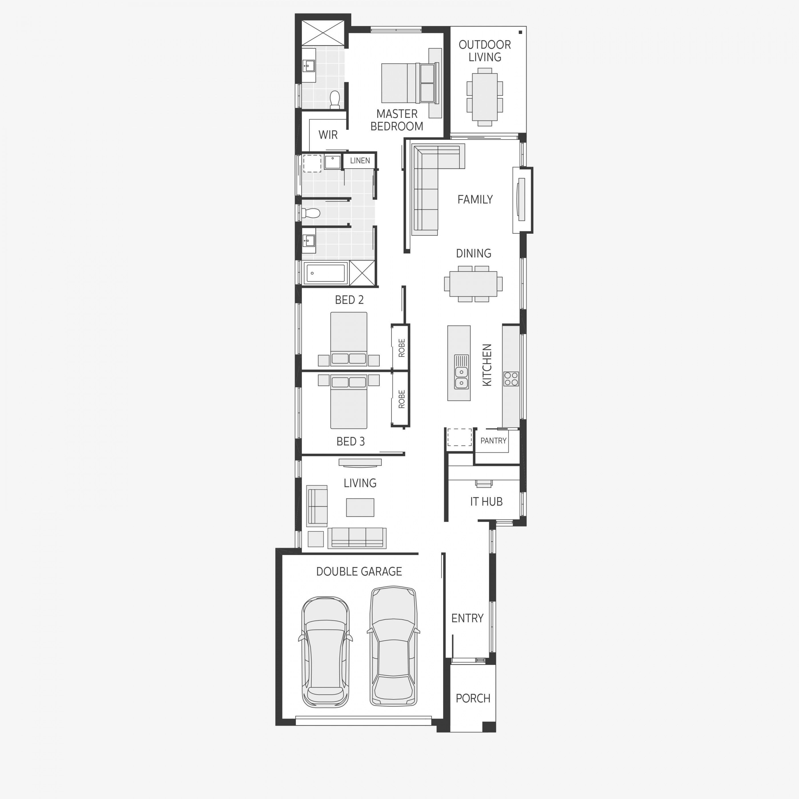 Home Design Floorplan Image Description In 2020 Narrow House