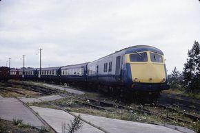 660728aBlueP | Midland Pullman unit at Swindon Carriage Work… | Flickr