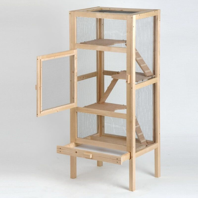 Cage pour rongeur Woody  0 Maison Hamster, Cage Rongeur, Octodon, Furet,  Cochon c77b09834374