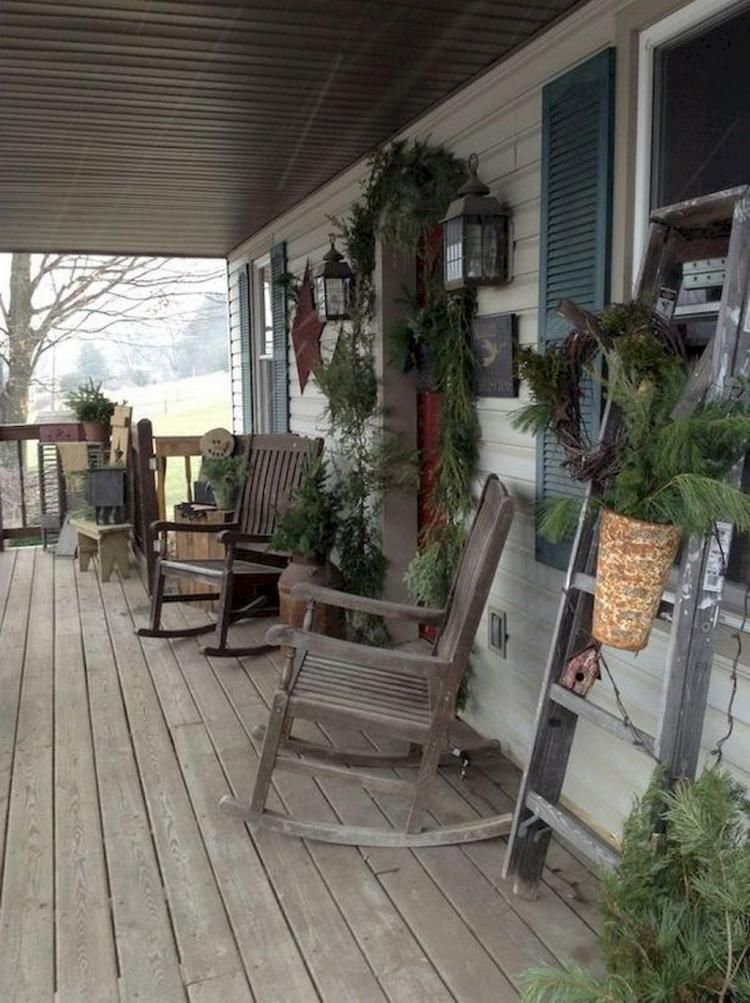 50+TOP FARMHOUSE FRONT PORCH DESIGN IDEAS #rusticporchideas